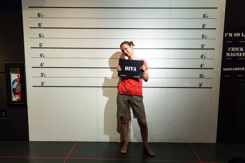 Condenado como diva imagen de archivo libre de regalías