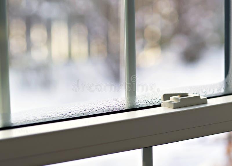 Condensação da janela imagem de stock