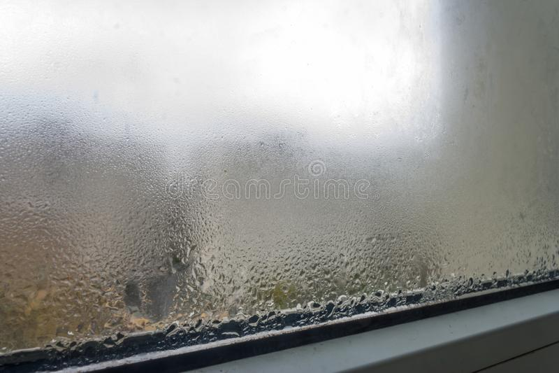 Condensação no vidro na queda, imagens de stock royalty free