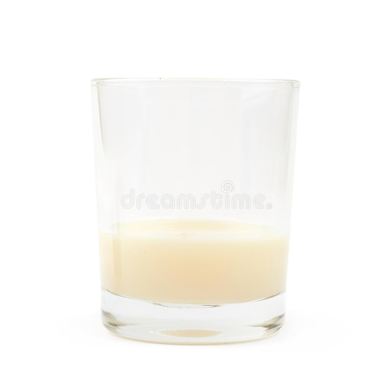 Condensed Milk In A Glass Isolated Stock Photo - Image of milk, delicious: 121447096