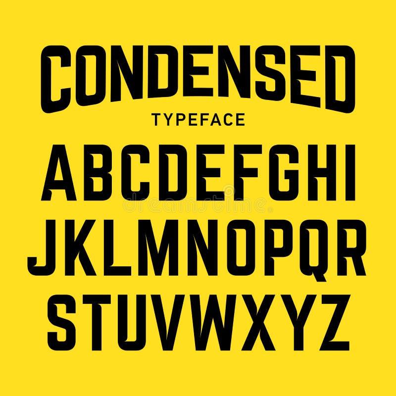 Condensed typeface stock illustration