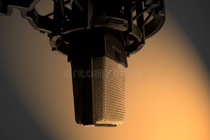 Condenser Mic in Sepia royalty free stock photo