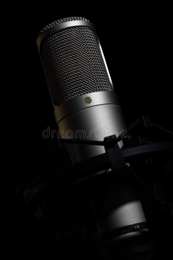 Condenser tube microphone stock photography
