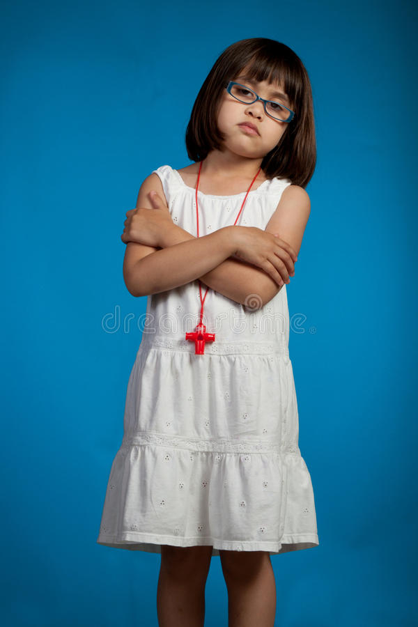 Download Condescending stock image. Image of blue, little, child - 32722187