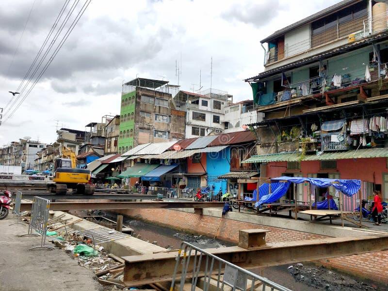 A condição do residente na cidade de Banguecoque que é fu imagem de stock royalty free