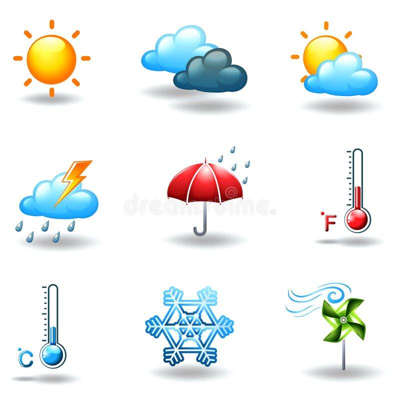 Condições meteorológicas diferentes ilustração do vetor