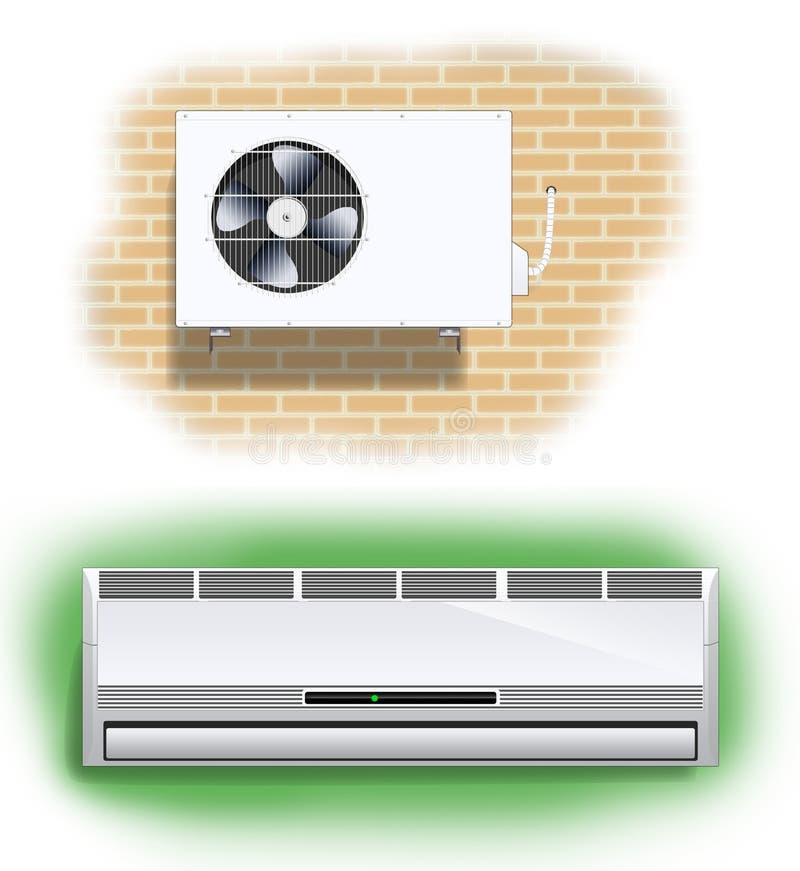 Condicionador de ar ilustração royalty free