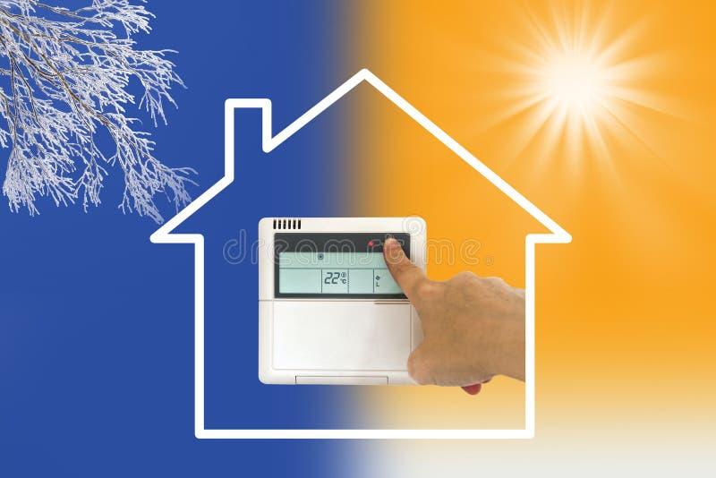 Condicionador de ar de aquecimento e refrigerando ilustração royalty free