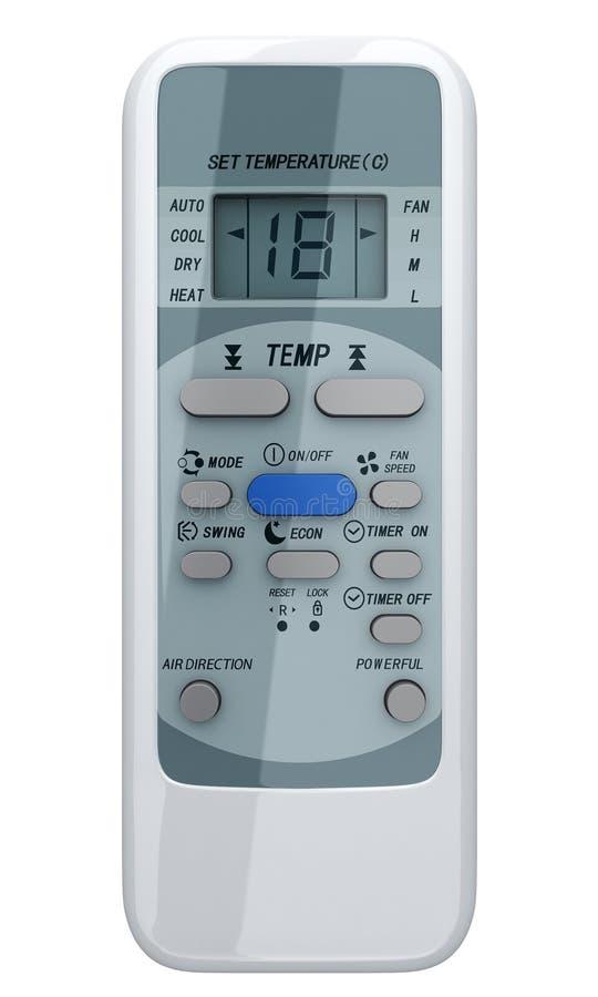 Condicionador de ar de controle remoto ilustração royalty free