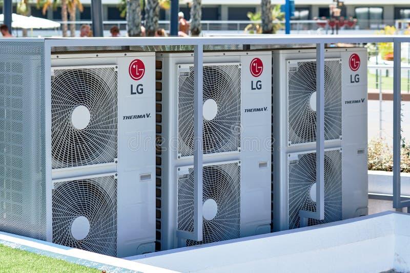 Condicionador de ar do LG fora imagens de stock