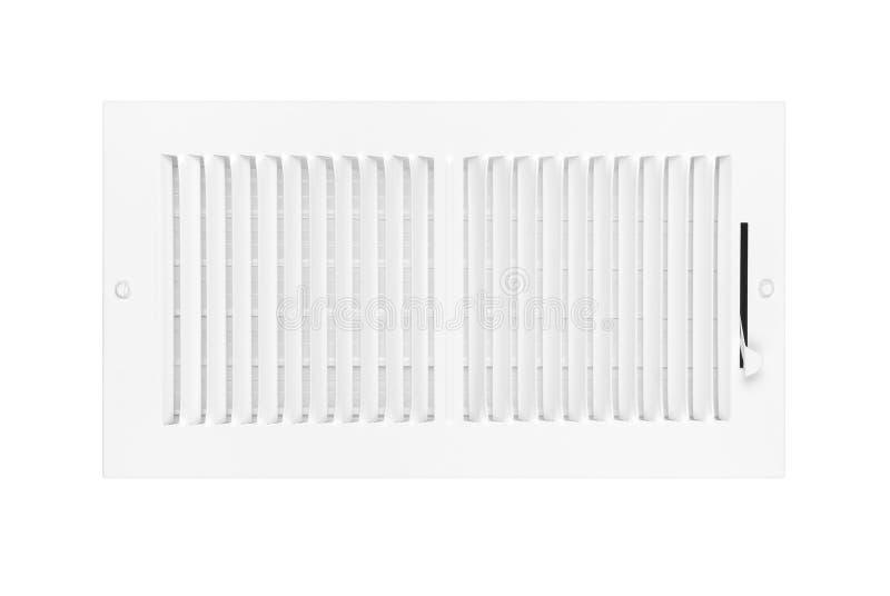 Condicionamento de ar e respiradouro do aquecimento no branco foto de stock royalty free