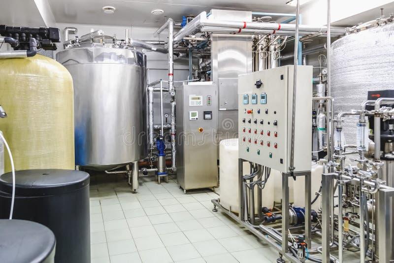 Condicionamiento del agua o sitio del destilation imágenes de archivo libres de regalías