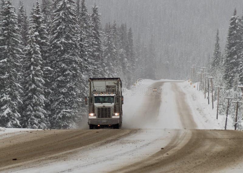 Condiciones de conducción del invierno imagenes de archivo