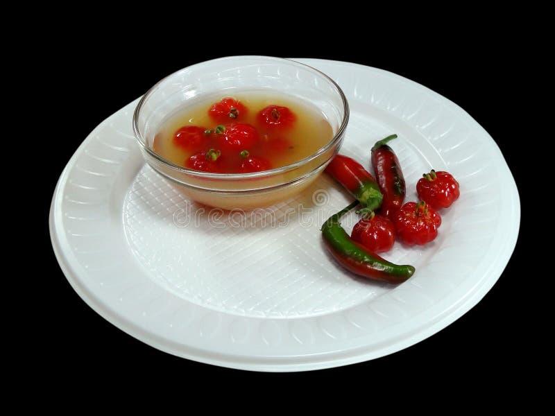 Condimenti freschi di peperoni tropicali fotografie stock