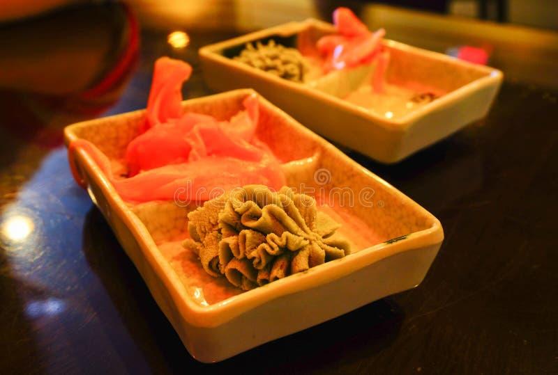 Condimento del sushi fotos de archivo