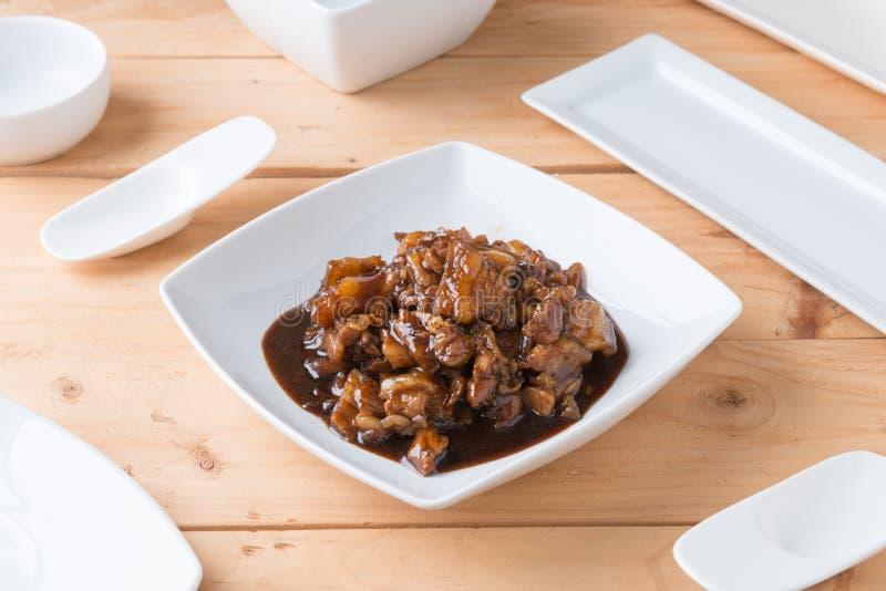 Condimento dulce del cerdo (el nombre tailandés es el muu waan) fotos de archivo libres de regalías