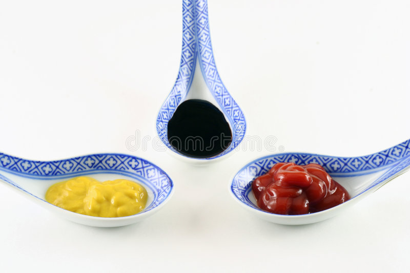 Condiments royalty free stock image