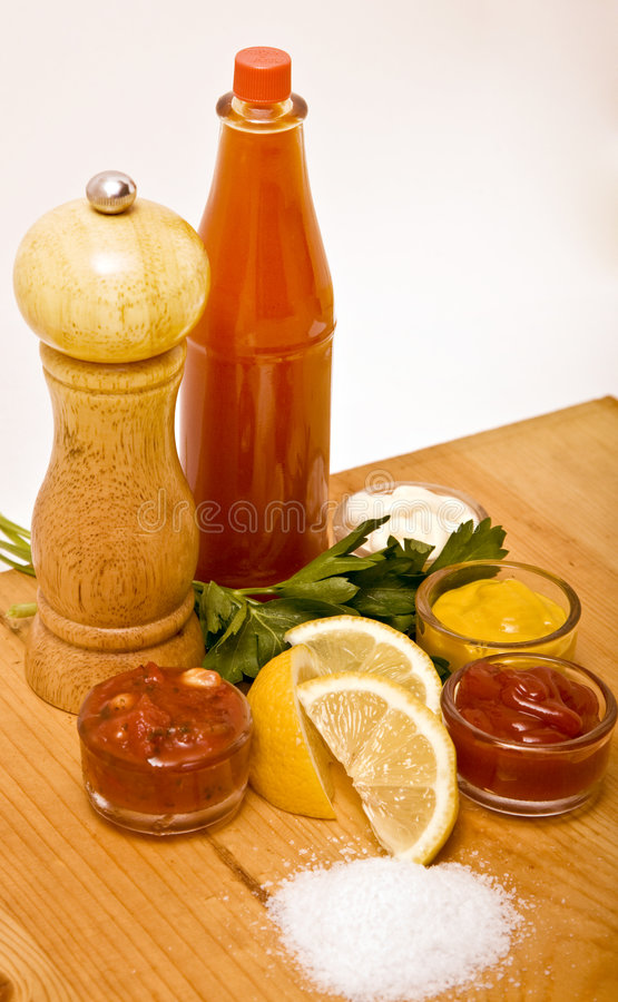 Condiments stock images