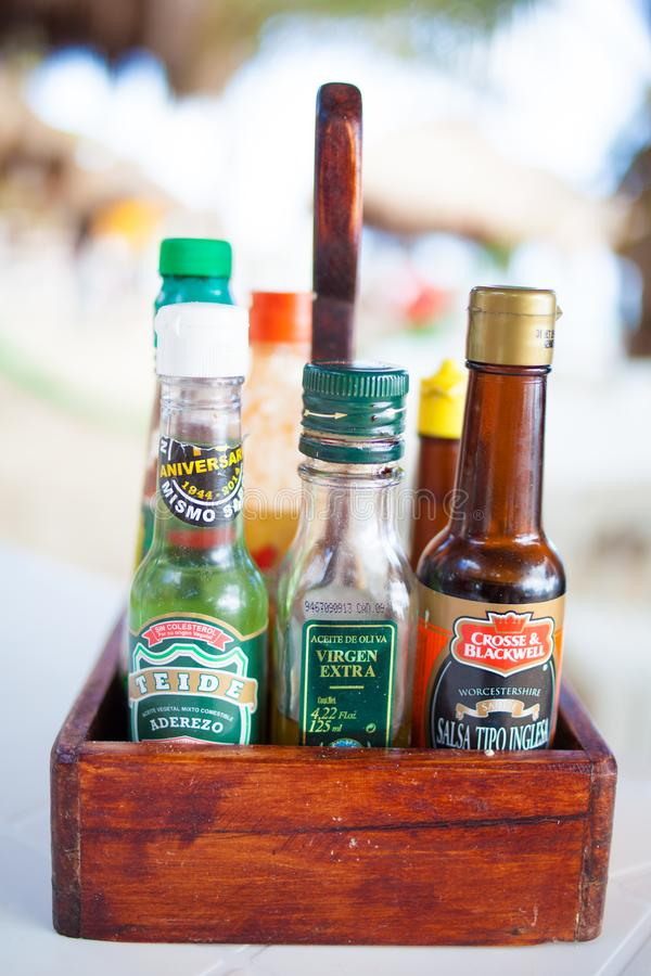 Condiments mexicains image stock