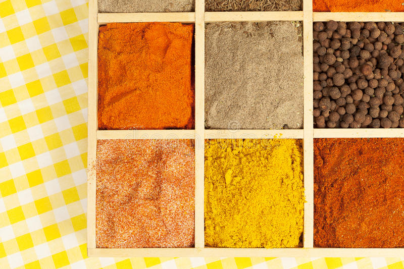 Download Condiments variation. stock photo. Image of cumin, herbs - 25313896