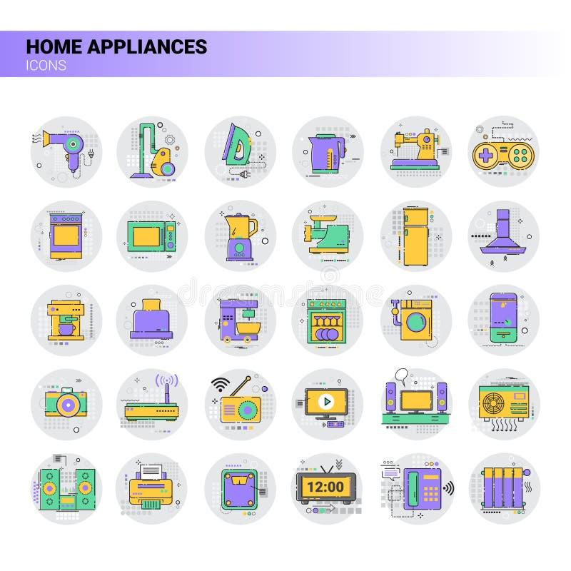 Conditioner gospodarstwa domowego domu Grzejnej ikony przyrządów Housekeeping Kuchenna kolekcja royalty ilustracja