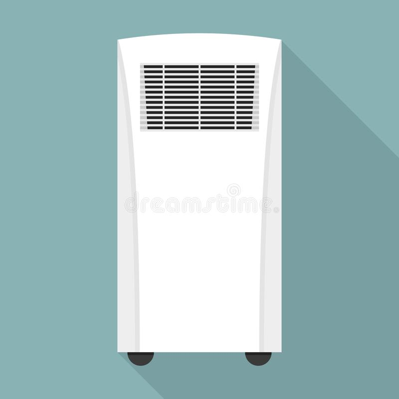 Conditioner heater icon, flat style. Conditioner heater icon. Flat illustration of conditioner heater vector icon for web design royalty free illustration