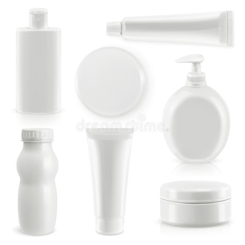 Conditionnement en plastique, cosmétiques et hygiène illustration libre de droits