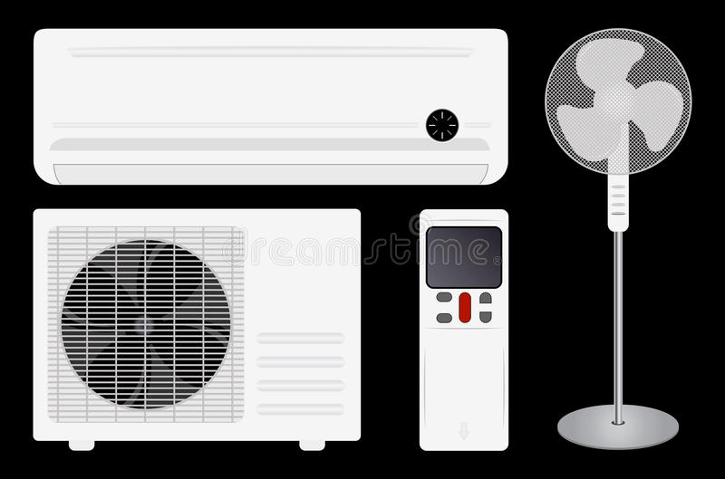 Condizionamento d'aria e ventilatore illustrazione vettoriale
