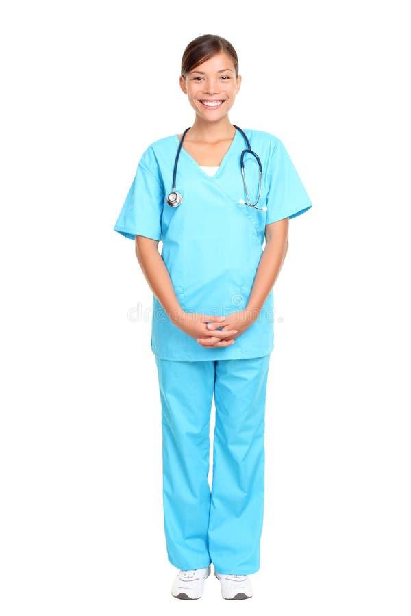 Condizione asiatica dell'infermiera immagini stock libere da diritti