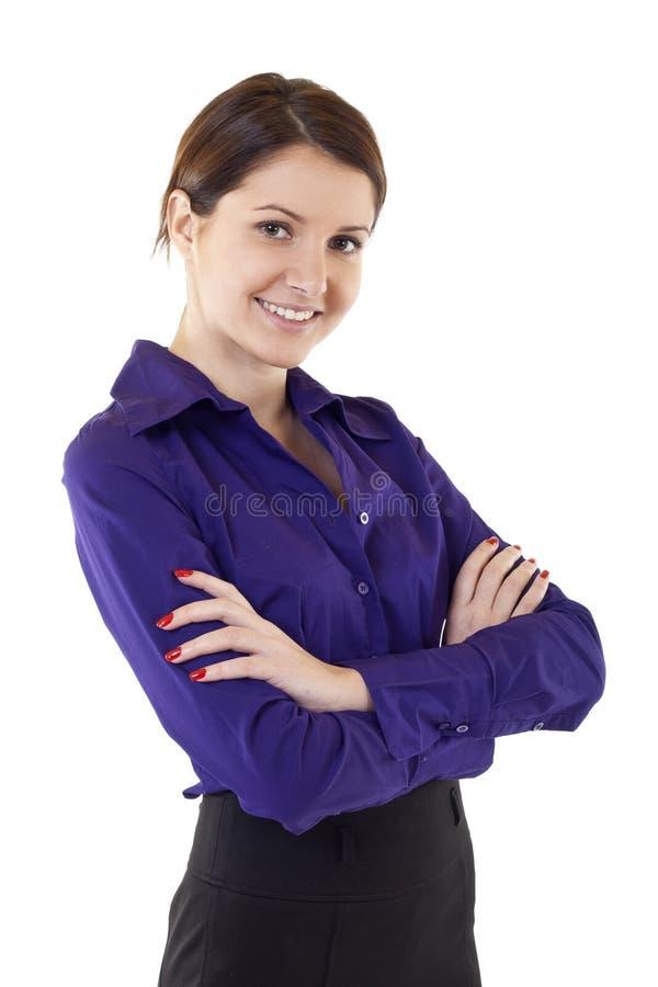 Condizione attraente della donna di affari fotografia stock libera da diritti