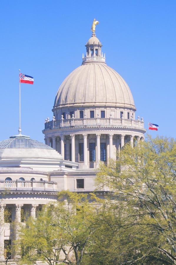 Condizione Campidoglio del Mississippi immagini stock