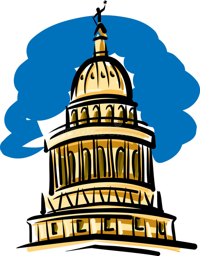 Condizione Campidoglio del Texas che costruisce Austin royalty illustrazione gratis