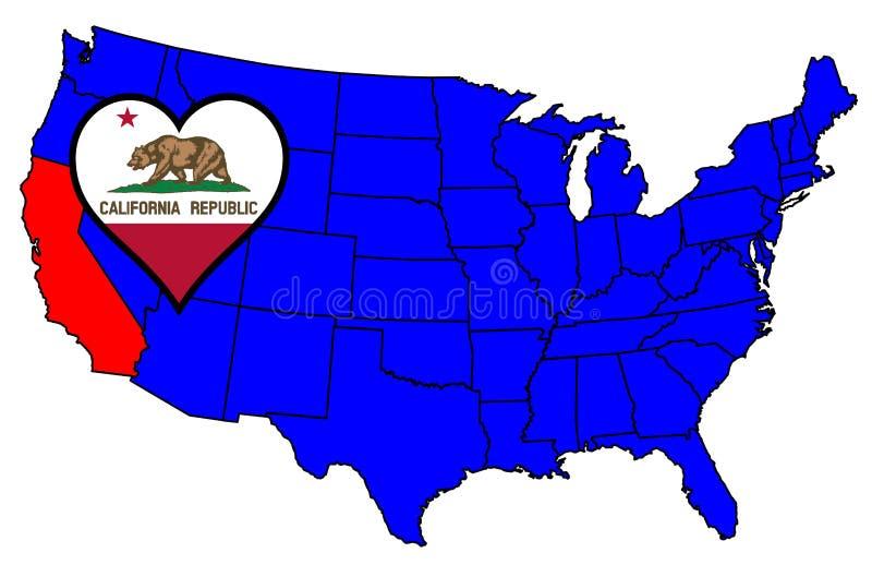Condizione della California royalty illustrazione gratis