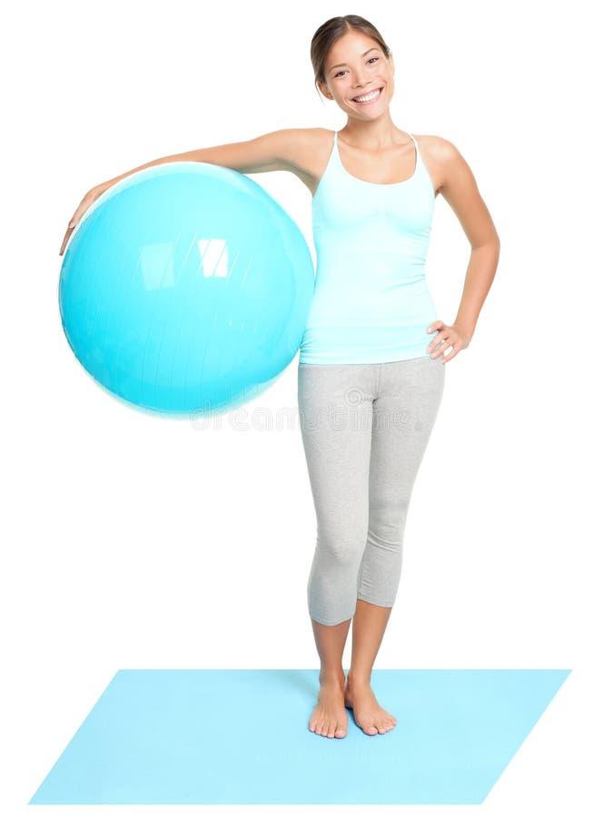 Condizione della donna di forma fisica immagine stock