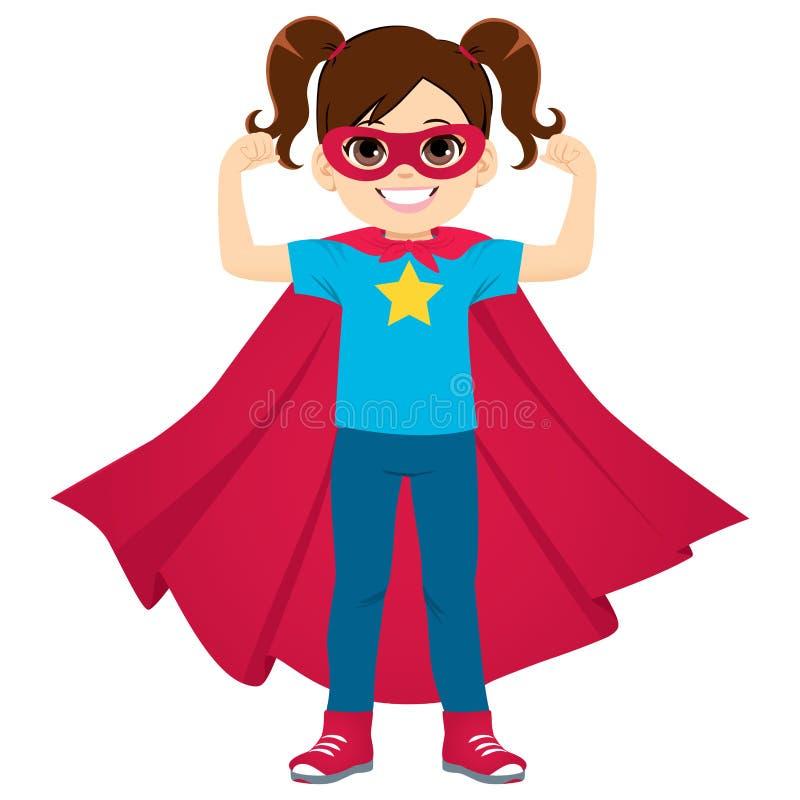 Condizione della ragazza dell'eroe eccellente illustrazione vettoriale