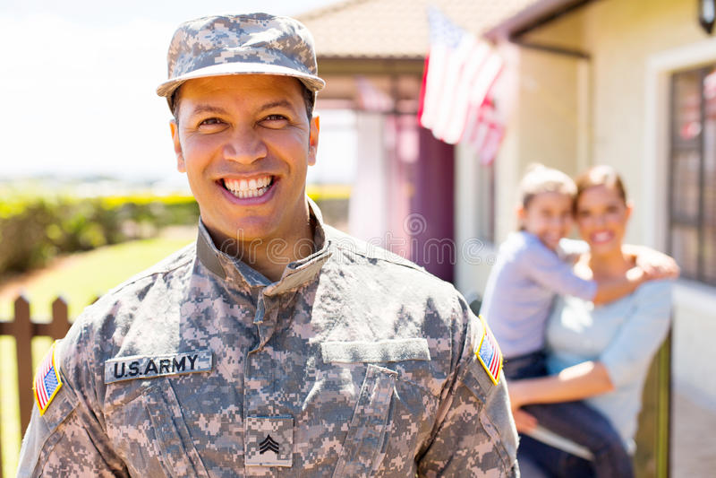Condizione militare americana del soldato fotografie stock libere da diritti