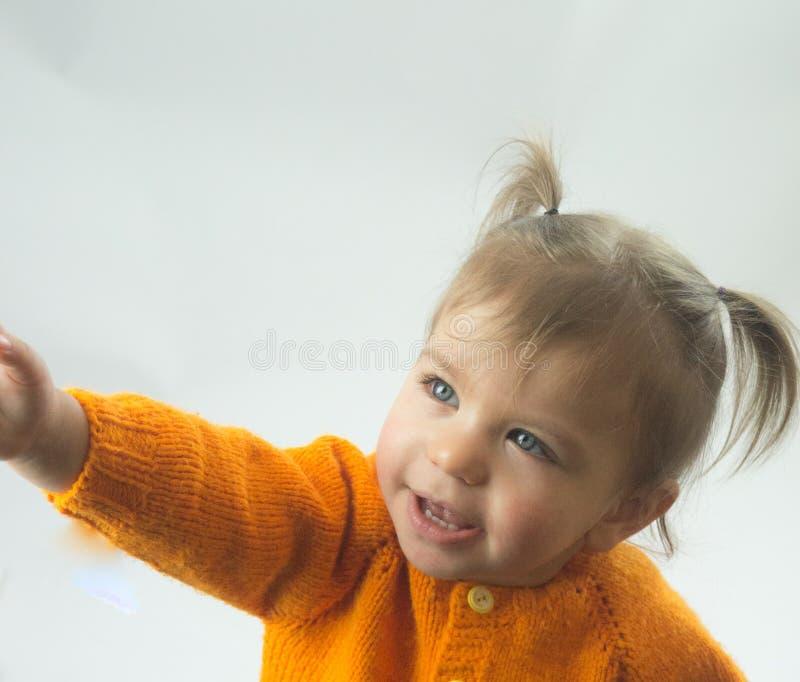 Condizione osservata verde della bambina ed occhi verdi immagine stock libera da diritti