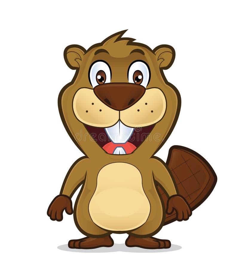 Condizione sorridente del castoro royalty illustrazione gratis