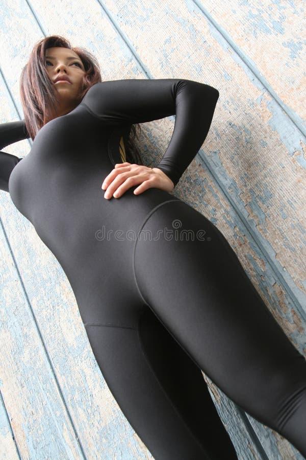 Condizione sportiva della ragazza fotografia stock