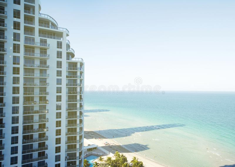 Condo building in Miami Beach, Florida. stock images