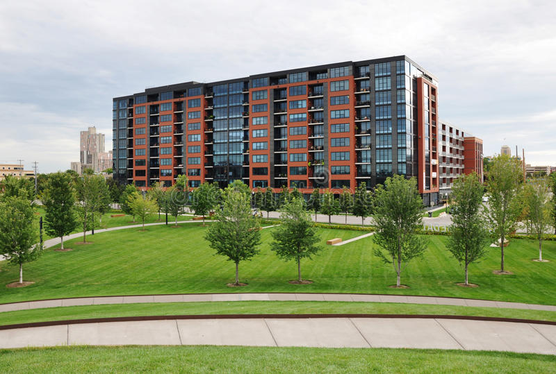 Condo building, Minneapolis stock image
