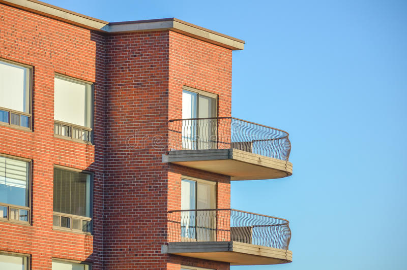 Condo building in Montreal stock photography