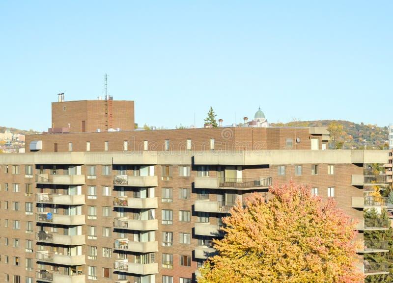 Condo building in Montreal stock photo