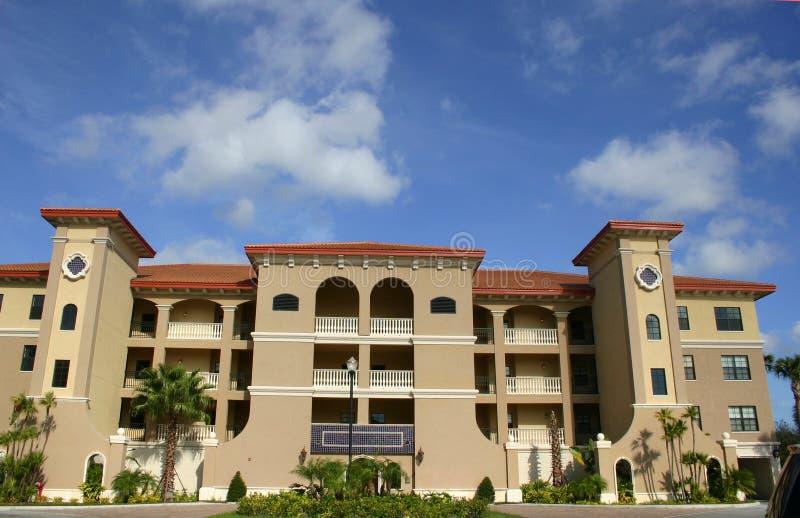 condo building in tropics royalty free stock photos