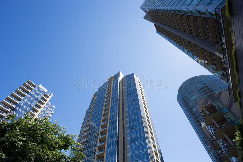 Condo Buildings South Waterfront Portland Oregon stock photography