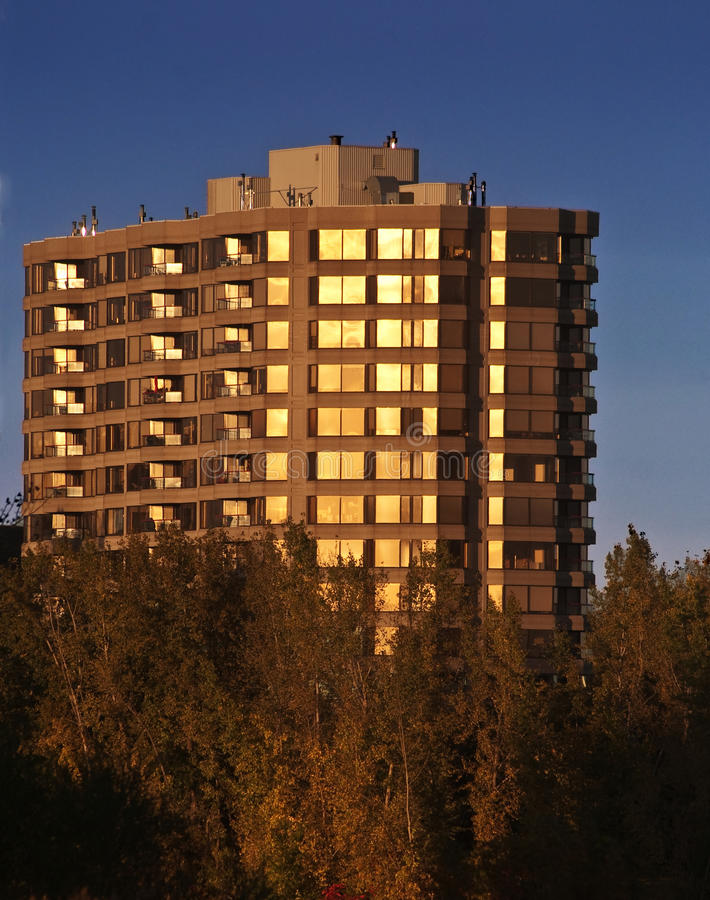 Download Condo in the sunset stock image. Image of residential - 34487981