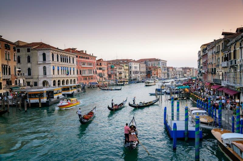 Condolasrit van Venetië, Italië stock fotografie