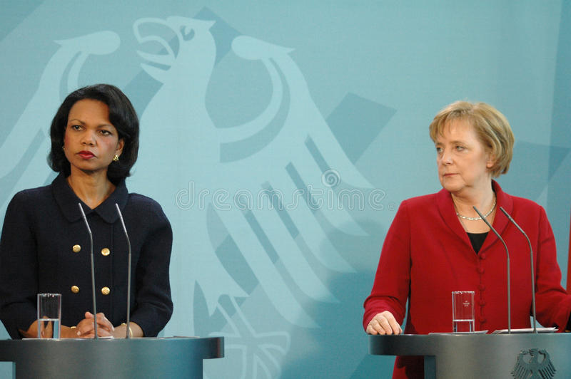 Condoleezza Rice Angela-merkel 2005 stockfoto