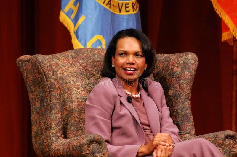 Condoleezza Rice in Michigan stock foto's