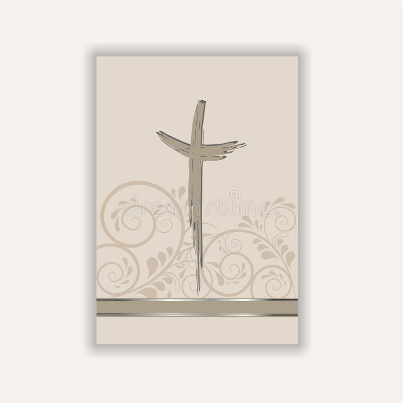 Condolence card stock illustration
